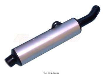 Product image: Marving - 01Y2097 - Silencer  Rond FZR 600 GENESIS Approved Rond Ø114 Black Cover Alu