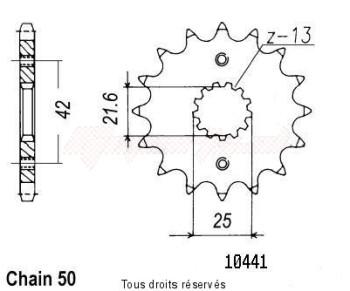 Product image: Sifam - 10441CZ15 - Sprocket Gsf 600 Bandit 95-03 Gsx-F 750/1100 - Gsx-R 750/110 10441cz   15 teeth   TYPE : 530