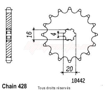 Product image: Sifam - 10442CZ13 - Sprocket Suzuki Yamaha Type 428/Z1 80 Rm 1986-2000 10442cz   13 teeth   TYPE : 428