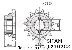 Product image: Sifam - 12102CZ15 - Sprocket Duc 750 Santa Monica 88      15 teeth   TYPE : 520