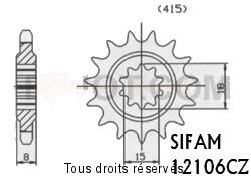 Product image: Sifam - 12106CZ12 - Tandwiel Voor  50 Red Rose Classic 92- 12