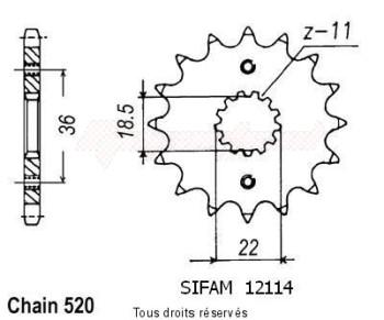 Product image: Esjot - 12114CZ13 - Sprocket Nx 250 88-93   12114cz   13 teeth   TYPE : 520