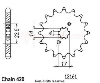 Product image: Sifam - 12161CZ11 - Tandwiel Voor  DE  06- 14
