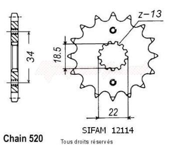 Product image: Esjot - 12174CZ15 - Pignon KTM 390