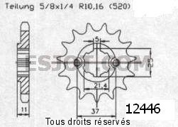 Product image: Sifam - 12446CZ15 - Sprocket Eton 150 Yukon      15 teeth   TYPE : 520