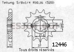 Product image: Sifam - 12446CZ17 - Sprocket Aeon 190 Overland      17 teeth   TYPE : 520