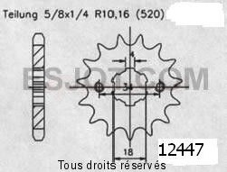 Product image: Sifam - 12447CZ15 - Sprocket Eton 50/100 Draco   12447cz   15 teeth   TYPE : 520