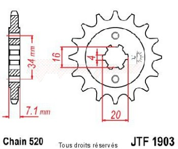 Product image: Sifam - 12472CZ14 - Sprocket KTM Duke 2011      14 teeth   TYPE : 520