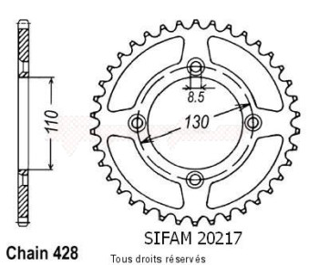 Product image: Sifam - 20217CZ55 - Tandwiel Achter HO 49