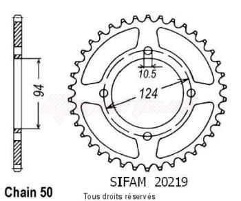 Product image: Sifam - 20219CZ34 - Chain wheel rear 550 Cbf 75-80   Type 530/Z34