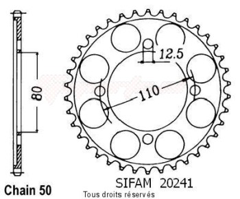 Product image: Sifam - 20241CZ40 - Chain wheel rear Cb 650 79-81   Type 530/Z40