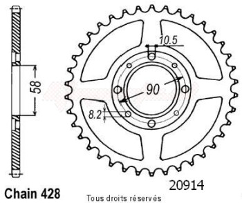Product image: Sifam - 20914CZ41 - Chain wheel rear Cg 125 Bresil 85-94   Type 428/Z41