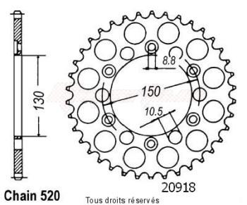 Product image: Sifam - 20918CZ42 - Chain wheel rear Honda Fmx 650 05-   Type 520/Z42