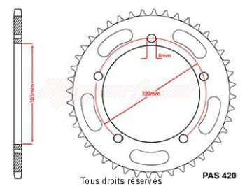 Product image: Sifam - 22444CZ44 - Sprocket rear Gilera 50 Eaglet 98 P