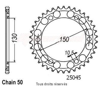 Product image: Sifam - 25045CZ38 - Chain wheel rear Xjr 1300 99-01   Type 530/Z38