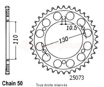 Product image: Sifam - 25073CZ46 - Chain wheel rear Fz-6 N/S   Type 530/Z46