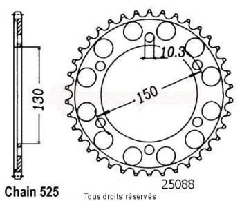 Product image: Sifam - 25088CZ48 - Chain wheel rear Xlv 650 Transalp 00-   Type 525/Z48