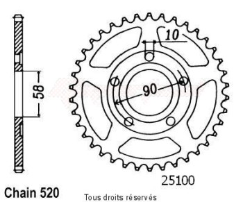 Product image: Sifam - 25100CZ36 - Sprocket rear Nsr 125 90-98 35