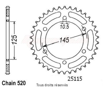 Product image: Sifam - 25115CZ46 - Chain wheel rear Xtz 750 Super T   Type 520/Z46