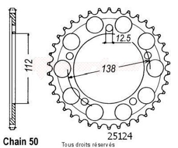 Product image: Sifam - 25124CZ39 - Chain wheel rear Cb 1300 F 03-   Type 530/Z39