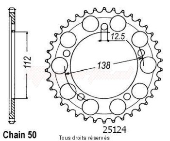 Product image: Sifam - 25124CZ41 - Chain wheel rear Vtr 1000 F 97-98   Type 530/Z41
