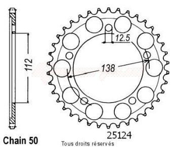 Product image: Sifam - 25124CZ43 - Chain wheel rear Cbr 600 F 91-96   Type 530/Z43