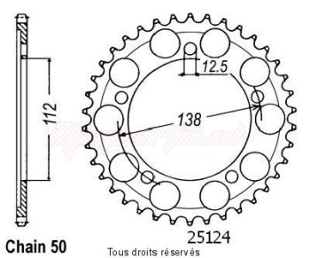 Product image: Sifam - 25124CZ44 - Chain wheel rear Cbr 1100 Xx 97-99   Type 530/Z44