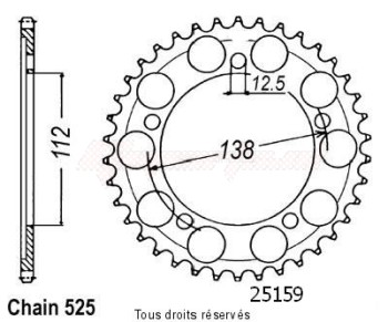 Product image: Sifam - 25159CZ43 - Sprocket rear Cbr 600 F 97-98 43