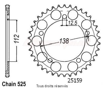 Product image: Sifam - 25159CZ44 - Chain wheel rear Cbr 600 F4 99-00   Type 525/Z44