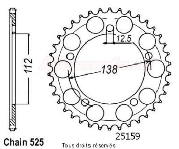 Product image: Sifam - 25159CZ47 - Chain wheel rear Xl1000 Varadero 98-01   Type 525/Z47