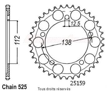 Product image: Sifam - 25159CZ47 - Chain wheel rear Xl1000 Varadero 98-01   Type 525/Z47