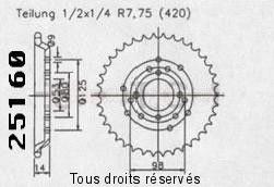 Product image: Sifam - 25160CZ53 - Chain wheel rear Derbi Senda 50 R/L 96   Type 420/Z53