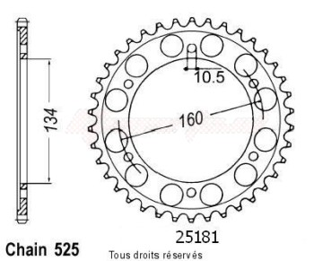 Product image: Sifam - 25181CZ41 - Chain wheel rear Cbr 600 Rr 07   Type 525/Z41