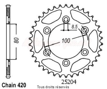 Product image: Sifam - 25204CZ48 - Chain wheel rear Rieju 50 Rr Sm/Spike   Type 420/Z48