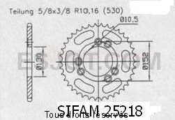 Product image: Sifam - 25218CZ41 - Chain wheel rear Cagiva 1000 Navigator   Type 530/Z41
