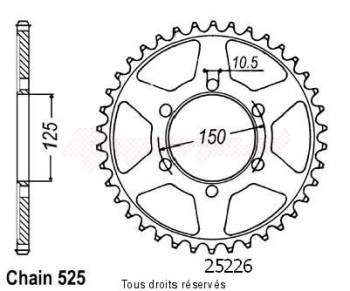 Product image: Sifam - 25226CZ42 - Chain wheel KTM 950 Adventure 03-   Type 525/Z42