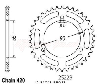 Product image: Sifam - 25228CZ47 - Chain wheel rear Rs2 50 Matrix 03-   Type 420/Z47