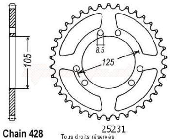 Product image: Sifam - 25231CZ48 - Tandwiel Achter Xt 125 X 04- 56