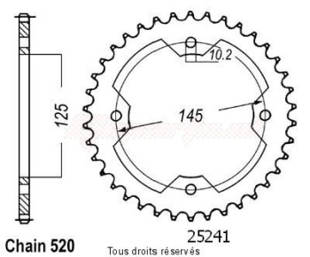 Product image: Sifam - 25241CZ38 - Chain wheel rear Atv Yfz450 04-   Type 520/Z38