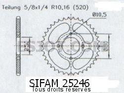 Product image: Sifam - 25246CZ34 - Tandwiel Achter Eton 150 Yukon