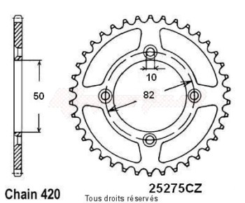 Product image: Sifam - 25275CZ42 - Chain wheel rear Skyteam Dax 06-   Type 420/Z42