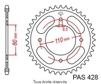 Product image: Sifam - 25277CZ42 - Chain wheel rear Honda Cbf 125 08-   Type 428/Z42