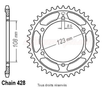 Product image: Esjot - 25283CZ60 - Chain wheel rear RS4 125   Type 428/Z60