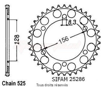 Product image: Esjot - 25286CZ38 - Chain wheel rear KTM 1290   Type 525/Z38