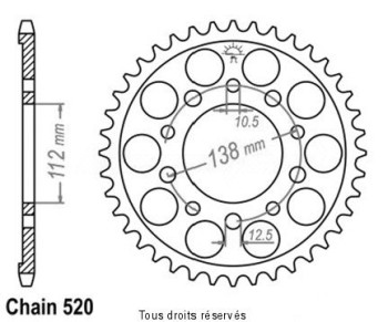 Product image: Esjot - 25287CZ39 - Chain wheel rear Honda 700   Type 520/Z39