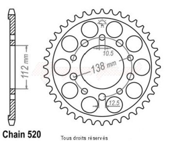 Product image: Esjot - 25287CZ43 - Chain wheel rear Honda 700   Type 520/Z43