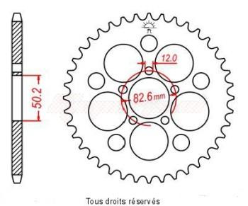 Product image: Sifam - 27086CZ48 - Chain wheel rear Harley Xlh 883/1200 S idem 27082cz48 Type 530/Z48