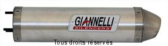 Product image: Giannelli - 33647HF - Exhaust Damper GPR50 04/05 RS 50 06/07 Mot. Piaggio  EU APPROVED Silencer  Alu