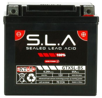 Product image: Kyoto - 512050 - Battery  Ytx5l-bs SLA AGM - Without Acid. Ready to Use