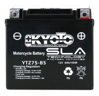 Product image: Kyoto - 512080 - Battery  YTZ7S-BS SLA-AGM - Without Acid. Ready to Use